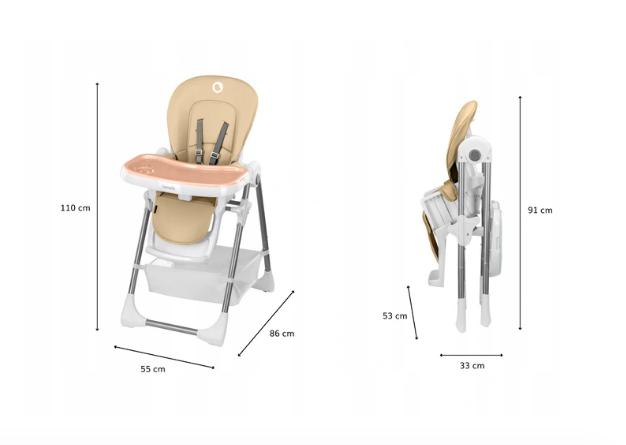 wymiary krzesełka Linn