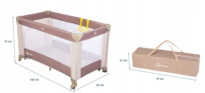 wymiary łóżeczka